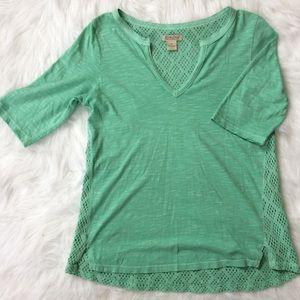 Lucky Brand | Calistoga Crochet Top Mint Sz Medium